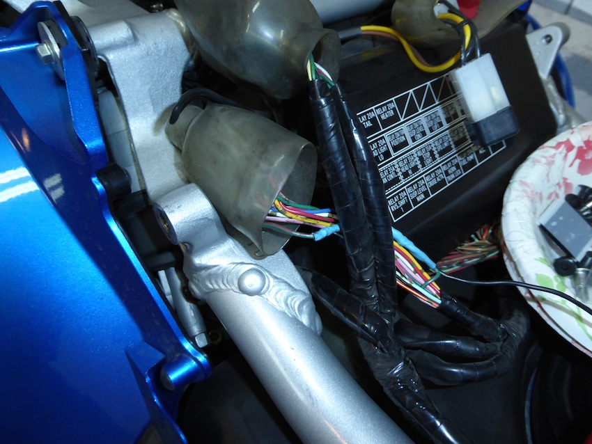 honda gl 1500 brake light wiring question: how do i access the brake light wiring harness ...